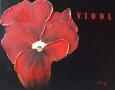 Bloemen drieluik - Viool