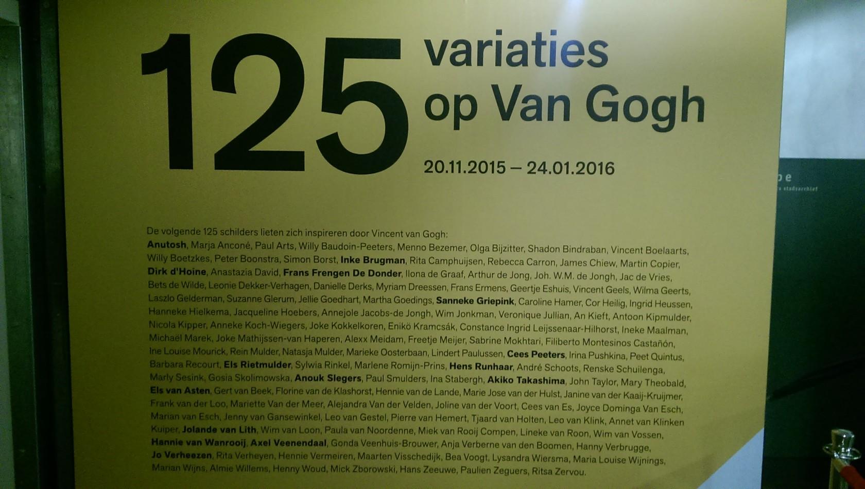 125 Variaties op Van Gogh